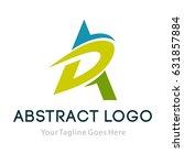 letter a logo icon design... | Shutterstock .eps vector #631857884