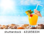 summer concept  fresh exotic... | Shutterstock . vector #631858334
