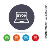 byod sign icon. bring your own... | Shutterstock .eps vector #631859804