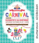 kids birthday party invitation... | Shutterstock .eps vector #631861664