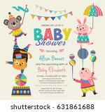 baby shower invitation card... | Shutterstock .eps vector #631861688