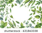 watercolor hand painted floral... | Shutterstock . vector #631863338