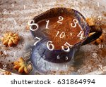 numerology  magic of numbers | Shutterstock . vector #631864994