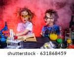 funny little children doing... | Shutterstock . vector #631868459