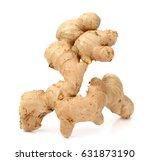 ginger on white background | Shutterstock . vector #631873190