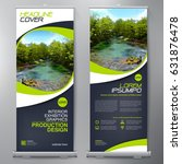 business roll up. standee... | Shutterstock .eps vector #631876478