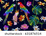 tropical summer. seamless... | Shutterstock .eps vector #631876514