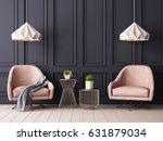 pastel interior in classic... | Shutterstock . vector #631879034