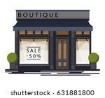 boutique facade. illustration... | Shutterstock .eps vector #631881800