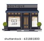 boutique facade. illustration... | Shutterstock .eps vector #631881800