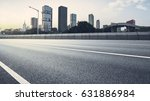 empty asphalt road of a modern... | Shutterstock . vector #631886984