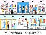 underwear interior set. people...   Shutterstock .eps vector #631889348