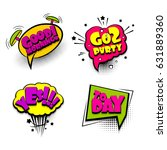 party  morning  collection set... | Shutterstock .eps vector #631889360