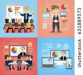 set of business presentations.... | Shutterstock .eps vector #631889573