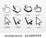 mouse pointer set computer... | Shutterstock .eps vector #631889999