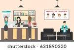 reception at office. visitors... | Shutterstock .eps vector #631890320