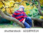Cute Little Kid Boy Enjoying...