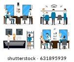 barbershop salon inside....   Shutterstock .eps vector #631895939