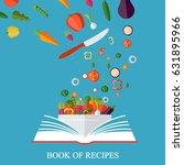 vegetarian  healthy eating... | Shutterstock .eps vector #631895966