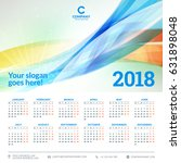 calendar for 2018 year. vector... | Shutterstock .eps vector #631898048