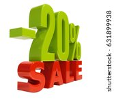 percent discount sign  sale up... | Shutterstock . vector #631899938
