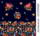 gypsy style seamless floral... | Shutterstock .eps vector #631905080