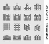 several style of building icons ... | Shutterstock .eps vector #631905434