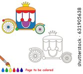 princess chariot to be colored  ... | Shutterstock .eps vector #631905638