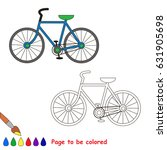 two wheeled bicycle to be... | Shutterstock .eps vector #631905698