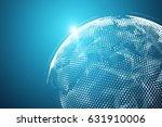 3d rendering. world map point ... | Shutterstock . vector #631910006