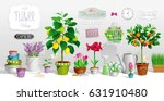 big collection of the pot... | Shutterstock .eps vector #631910480