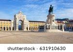 rua augusta arch is a triumphal ... | Shutterstock . vector #631910630