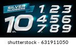 Set Of Metal Numbers. Vector...