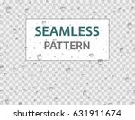water droplets seamless pattern.... | Shutterstock .eps vector #631911674
