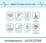 heart attack and... | Shutterstock .eps vector #631913789