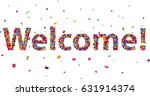 Welcome Sign With Colorful...