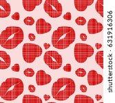 fashion lips heart mothers... | Shutterstock .eps vector #631916306