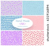 set of vector seamless pattern. ... | Shutterstock .eps vector #631916894