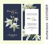 wedding invitation card | Shutterstock .eps vector #631920809