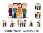 different types of families.... | Shutterstock .eps vector #631922348