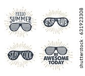 hand drawn 90s themed set of...   Shutterstock .eps vector #631923308