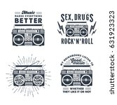 hand drawn 90s themed set of...   Shutterstock .eps vector #631923323