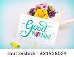 morning surprise  wheelbarrow... | Shutterstock . vector #631928024