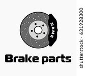 disc brake isolated icon on... | Shutterstock .eps vector #631928300