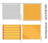 set of horizontal and vertical... | Shutterstock .eps vector #631928789