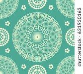 indian circles seamless pattern.... | Shutterstock .eps vector #631930163