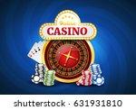 online casino background with... | Shutterstock .eps vector #631931810