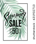 sale banner  poster with palm... | Shutterstock .eps vector #631932713