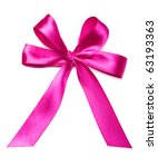 beautiful violet bow on white | Shutterstock . vector #63193363