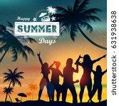 illustration of summer time... | Shutterstock .eps vector #631938638